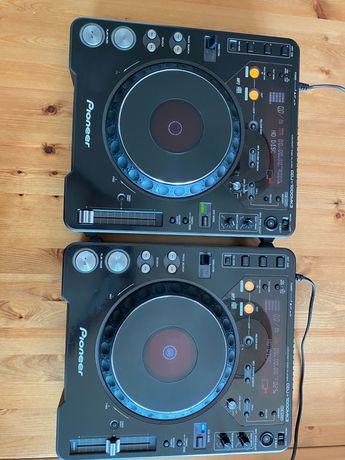 Pioneer djm600, 2 x cdj1000mk3, case, słuchawki, mikrofon, kable