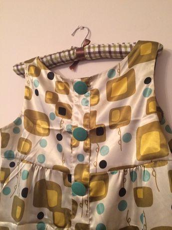 Платье шелк армани принт геометрия
