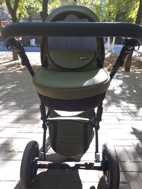 Детская коляска кожаная 2 в 1. Verdi Mirage