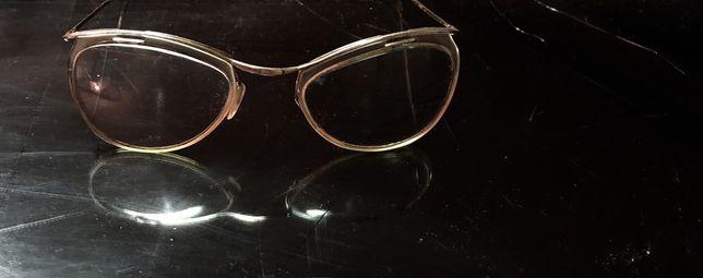 AMOR stare francuskie okulary oprawki  KOCIE OCZY pozlacane 18 K