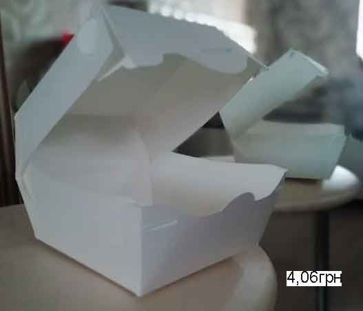 Одноразовая посуда из ламинированного картона для ФАСТ-ФУДА