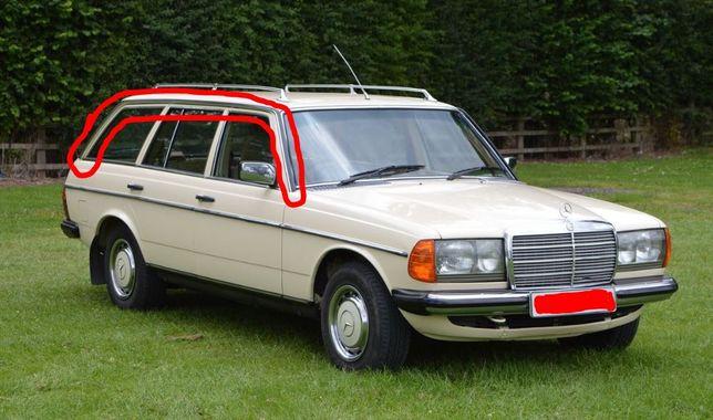 Mercedes W123 kombi listwy dachowe górne cena za komplet