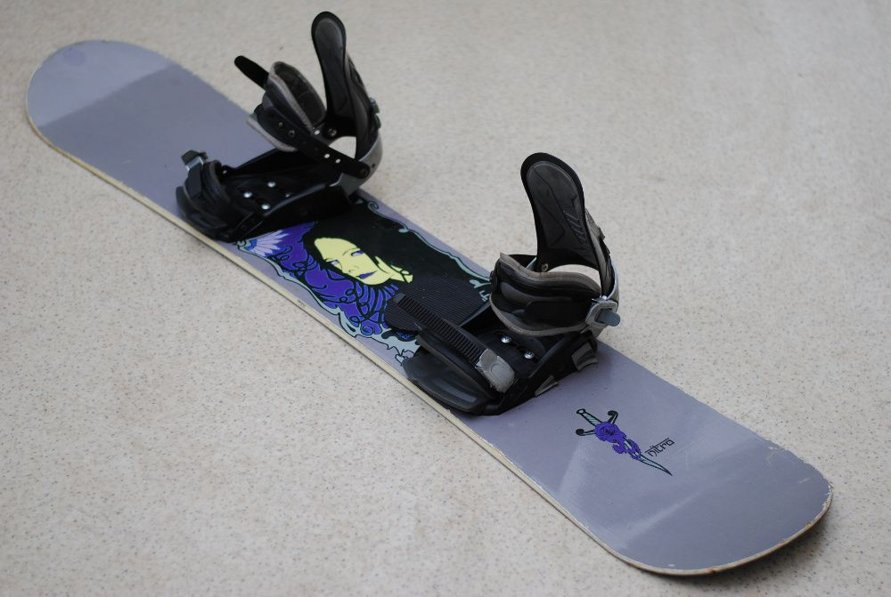 Deska snowboardowa snowboard Nitro 142 cm wiązania Hammer Ścinawa - image 1