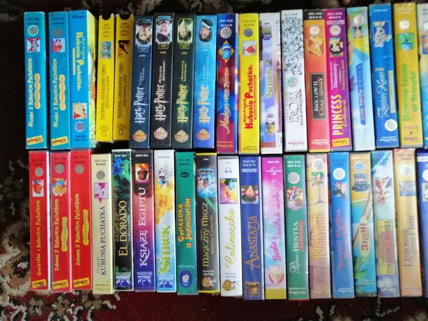 Bajki. Disney, WB... Kasety video VHS