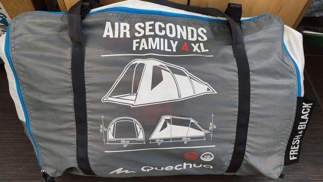 Tenda Quechua Air Seconds Family 4XL Fresh and Black