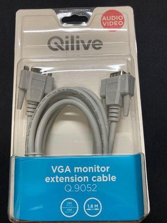 Kabel VGA Monitor Qilive 1.8 M - Męski - Żeński