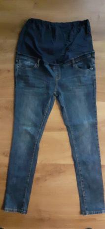 Spodnie ciążowe jeansy 42 rurki rozciagliwe
