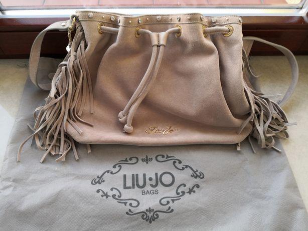 Oryginalna torebka Liu Jo z naturalnego zamszu