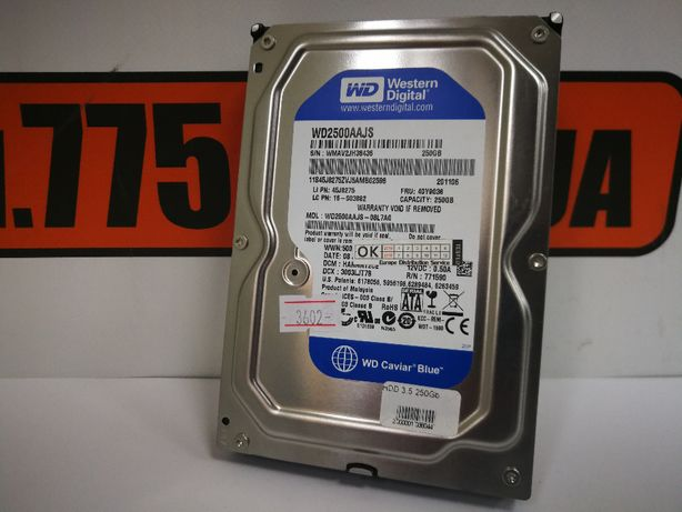 "Жесткий диск HDD 250GB SATA 3.5"" для компьютеров, гарантия"