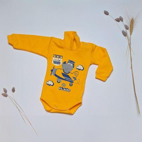 Детская одежда Боди-гольф с начесом для мальчика