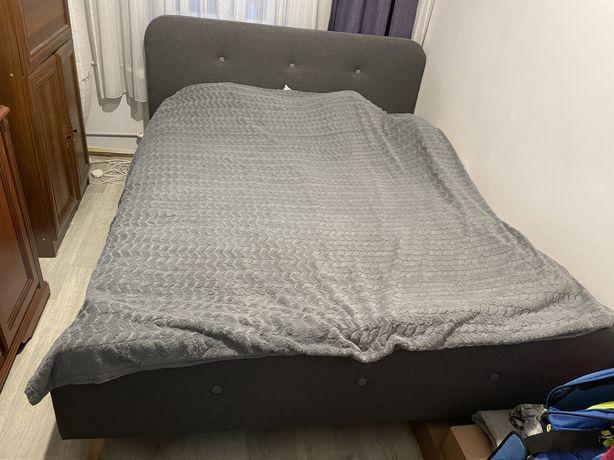 Łóżko 160x200cm JYSK ciemnoszare
