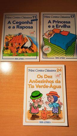 3 livros da coleção Mini Contos Clássicos