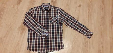 Bawełniana koszula męska w kratę, rozmiar M (RESERVED)