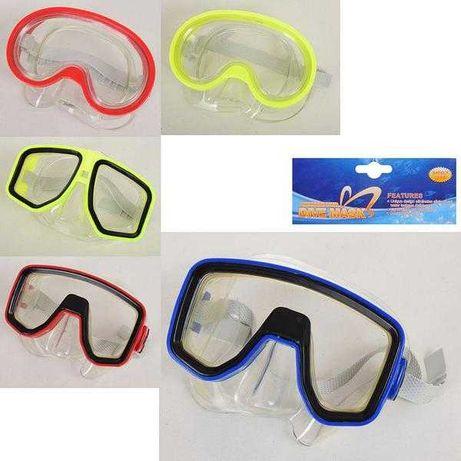 Очки для плавания, маска для ныряния. Регулируемый ремешок.