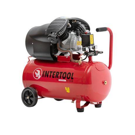 Компрессор 50 л, 8 атм, 440 л/мин 2 цилиндра INTERTOOL PT-0004
