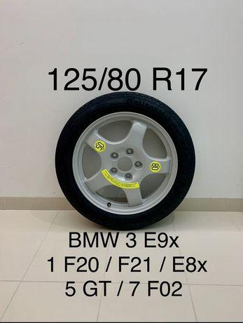 BMW R17 125/80 докатка 3 E90 E91 E93 1 F20 E81 E82 E87 запасное колесо