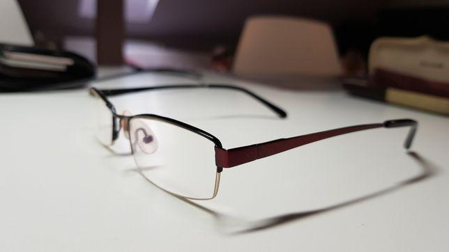 Okulary męskie Bergman zerowe moce antyrefleks
