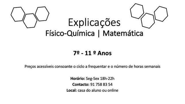 Explicações Fisico-Quimica e Matemática