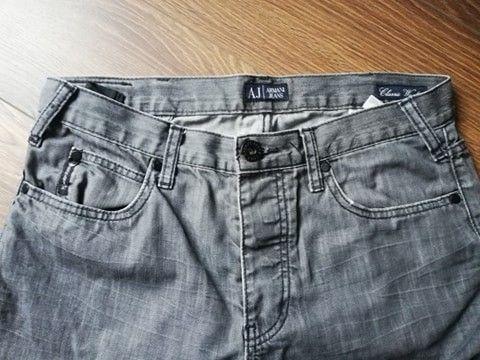 Męskie szare spodnie Armani Jeans