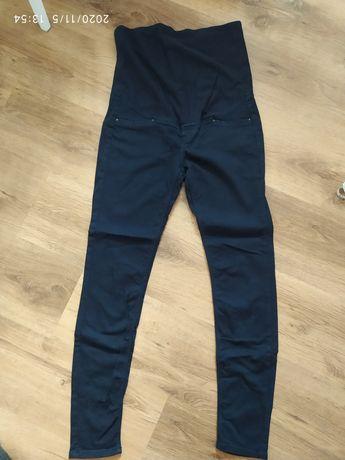 Spodnie granatowe ciążowe H&M mama 40