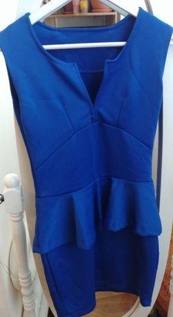 синее платье мини размер xs, s