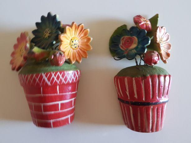 Vasos ceramica de parede
