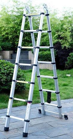 Лестница-стремянка телескопическая алюминиевая STANLEY