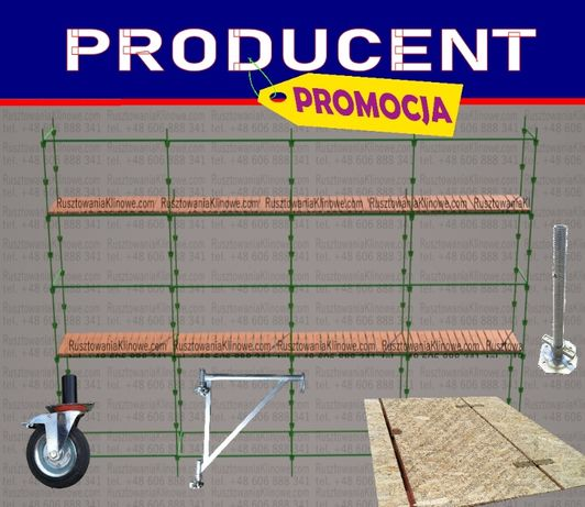 PRODUCENT Rusztowanie elewacyjne choinkowe 100 m2, klinowe KLIN TRANSP