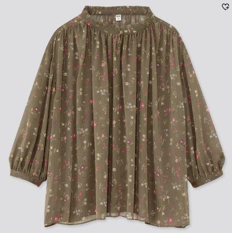 Шифоновая блузка Uniqlo