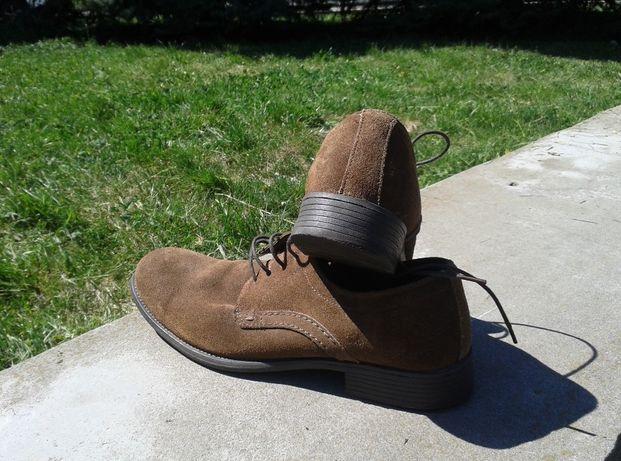 Туфли мужские замшевые коричневые