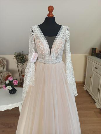 Suknia ślubna Gracjana rozmiar 40 styl rustykalny boho