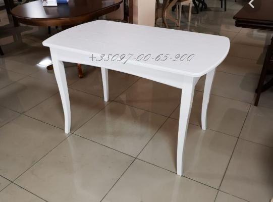 Кухонный Стол Белый Новый со склада! 120*70 Раскладной Бук+МДФ