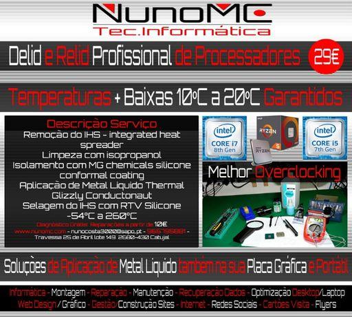NunoMC - Reparação - Portáteis - Desktop - Delid Cpu - Compra/Venda