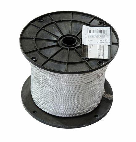 Трос стальной оцинкованный  5 мм (бухта 100 м. п.)