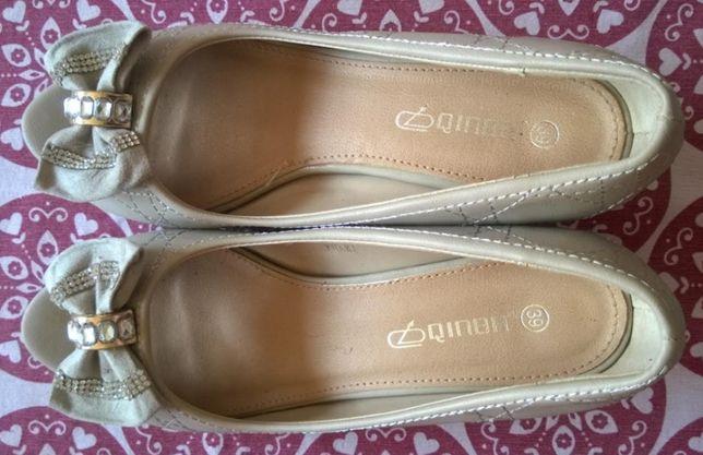 Buty damskie beżowe kremowe 39