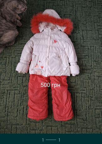 Зимний комплект курточка и комбинезон на 3-5 лет