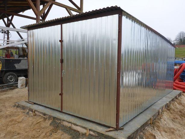 Garaż blaszany Schowek na budowę Blaszak Budowa Garaże PRODUCENT