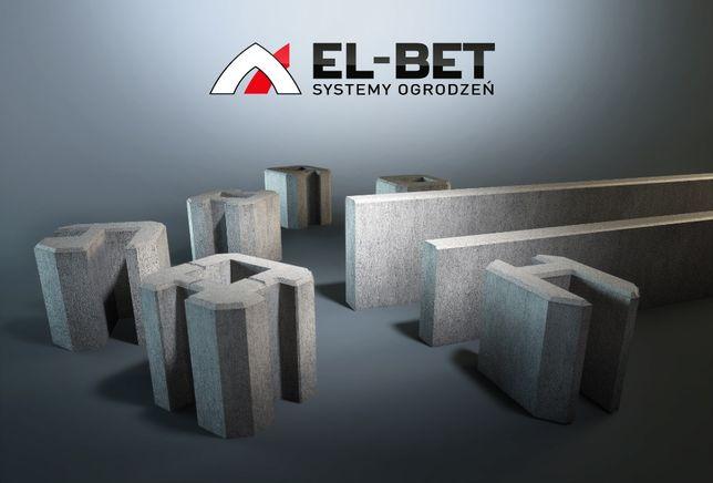 Podmurówki betonowe pod panele ogrodzeniowe wibroprasowane 25 cm murki