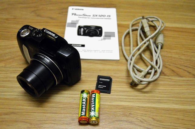 Фотоаппарат Canon powershot sx120 is + аккумуляторы