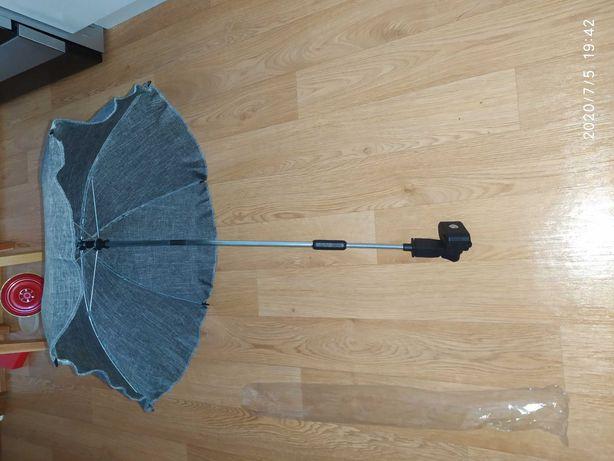 Lniana parasolka do wózka NOWA