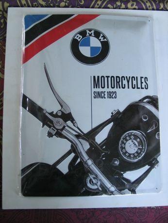 Tablica metal BMW tłoczona duża szyld oryginał