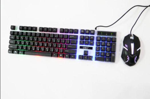 !Клавиатура и мышь с подсветкой M416 Gaming Keyboard