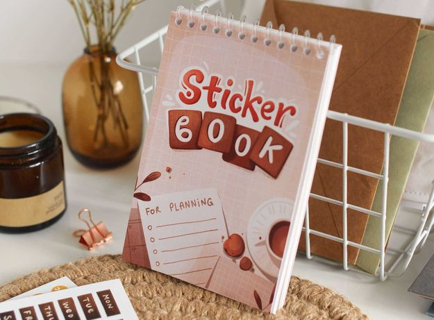 "Sticker Book ""For planning"", наклейки для планування, Stickers Vanilka"
