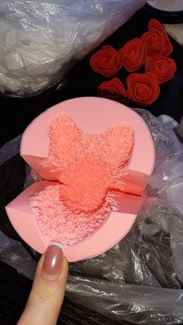 Силиконовая форма мишка из роз