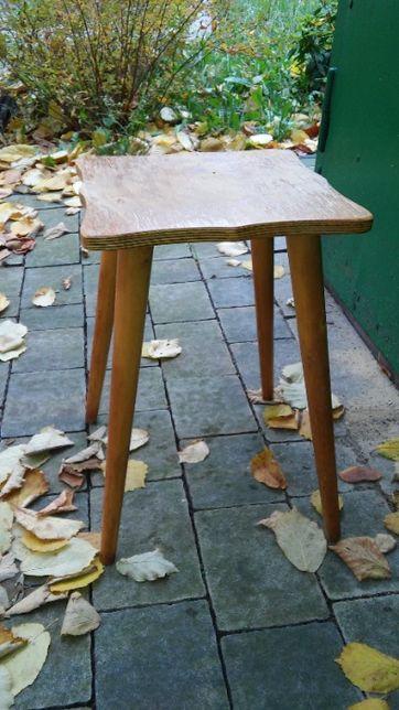 """Taboret drewniany """"Patyczak"""" PRL LOFT"""