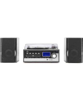 Nowa!!! Wieża stereo cd, mp3 Auna Blackwood  Gramofon+Kaseta