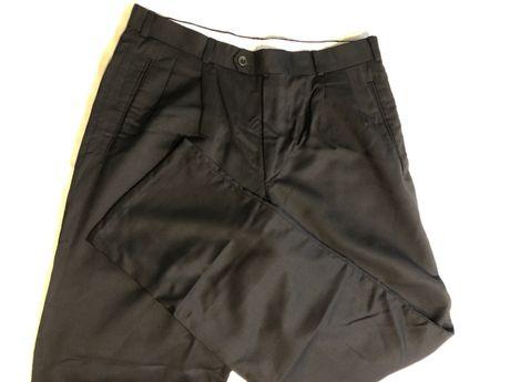 Spodnie garniturowe męskie, czarne, 86 cm w pasie