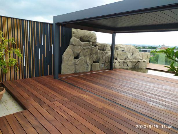 Montaż tarasów egzotycznych kompozytowych Elewacje drewniane