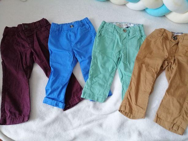 Zestaw 4x spodnie chłopięce niemowlęce eleganckie 68/74