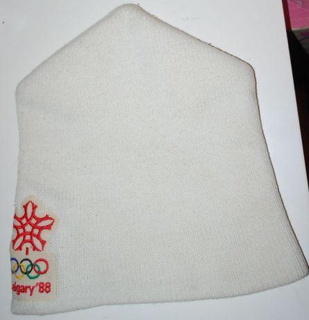 Дрезкод 80-х, вязания шапка, петушок олимпийцев Калгари 88, оригинал.